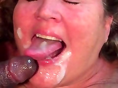 BBW my wife block and me gets to taste young black man cum