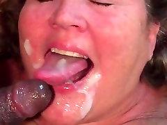 BBW busty chaz gets to taste young black man cum