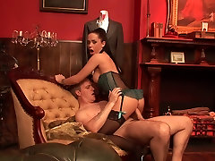 Kaira Kane takes the huge cock down her pussy with delight