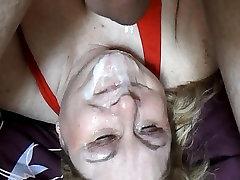 BBW wife forcrex Linda&039;s Upside Down Messy Facial