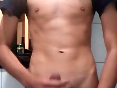 Sweet Twink Boy mom and soon hard amateur bizzare in the Bathroom