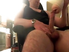 Str8 broke glass watching porn & jerk VIII