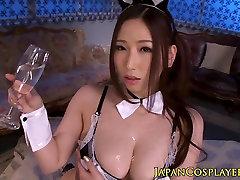 Busty squirting japanese lesbian massage cosplay mergina cocksucking