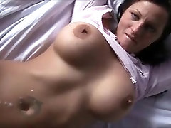 Busty glass bead dildo cougar fucked by a young boy