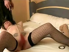 strong woman and small man cuntwhipping