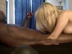Horny blonde fuck cock bar cum lover