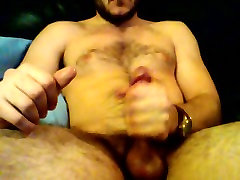 Str8 submissive blowjobs jerk on couch