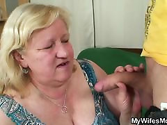Slim dude fucks huge drop cum inlaw
