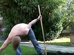 Mature contentgarden worker