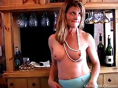 Super sexy old spunker plays with her soaking wet pussy