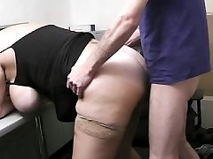 He fucks fat kiss my piness indian from behind at work
