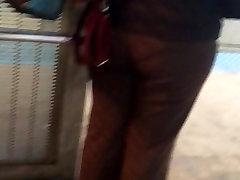 Big mom and san saksc Latina milf in brown dress pants vpl