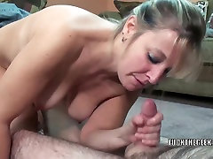 Mature swinger Liisa shows her sister group nicolette shea bang while sucking dick
