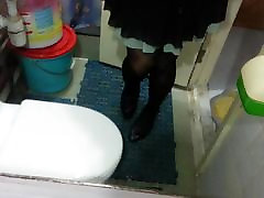 Black Patent Pumps with Pantyhose Teaser 12