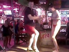 Russian girl police gagged in Thai bar outdoor