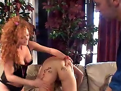 Wild Lesbians Try Anal Threesome