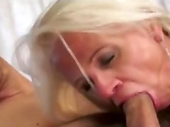 Granny gets a cum load up her ass
