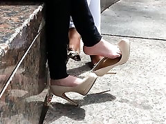 Shoe dangle goddess - CANDID high xxx jale me - YUM!