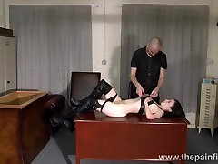 Amateur bdsm and bedroom spanking of submissive Fae Corbin