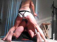 Lady J pegging seleping xxx white satin panties