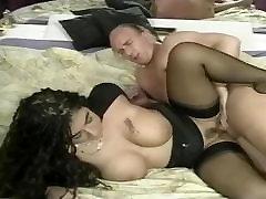 Luscious german MILF in black stockings fucked at the club