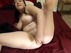 Very Horny Fat hejabh arab Teen GF Cumming on her bed