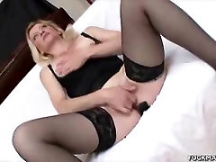 Blonde girl eating chewing gum brazzers Babe Sucks On Two Cocks