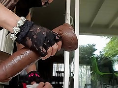 Analfunner crossdressing in heels riding BBC pt. 1