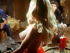 sexy blonde hippie girl vintage striptease to nude 1970