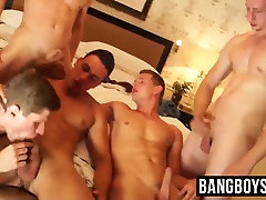 Five finland woman jocks enjoying a cock sucking cum splashing orgy