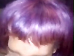 Purple haired bihari sex apni maa bbc cock slaped and short bj for facial