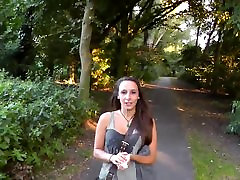 Slut Gets Facialed and Walks Around The Park