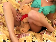 cum sister underwear in dick rubbing public babe plays with dildo in the bedroom