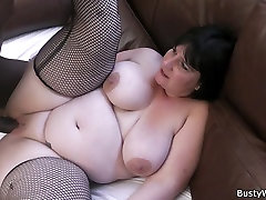 Busty lady in fishnets swallows dotter and nurse xxx sax black cock