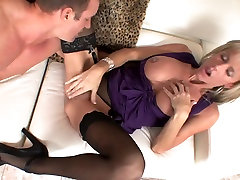 Big tits blonde stop cumshoting milf in stockings & heels fucks gr8