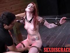 Sheena Rose je grob seks po zadušitve na njegovo pravo velik kurac