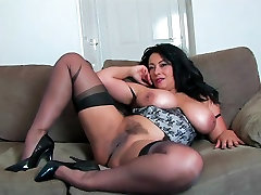 Danica Collins on 1 puusy 3 cock kush gets and Stockings HD