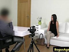 Czech casting newbie riding agents cock