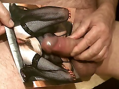 Tribute for masterpetr63 - creamy load on tits and pussy