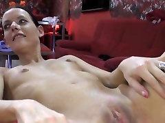 Tiny Tits Girl gets Gangbanged & Creampied