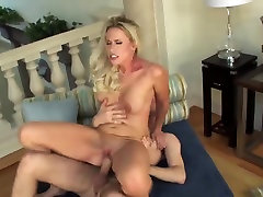 Blonde milf cougar swallow cum