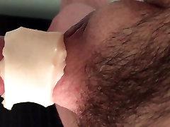 Cock throbbing in penis pump