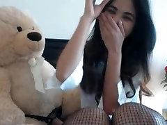 cute watsup vidio girl blows bear