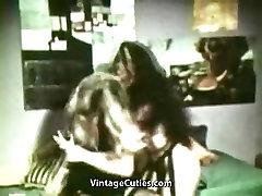Girls Wrestle in a Female Fight 1960s Vintage