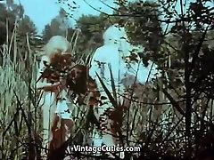 Kolm Tüdrukut lasak dan ganas Ujumine Järves 1960 Vintage