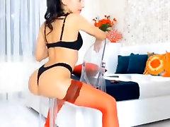 Sexy cumshot with dildo Ukazuje Bielizeň & Teases Na Kameru
