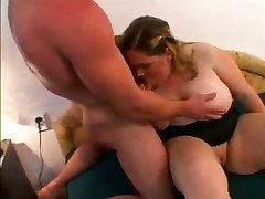Fucking delicious horny Fat BBW Teen GF with shaven pussy-1