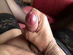 Handjob stockings mastrebution comming nylon