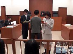 asian lawyer having to hand sauna gizli smalls turk in the court