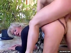 Busty mature loves young cock